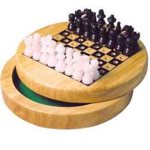 Hölzernes Schach-Set-Brettspiel-faltbares bewegliches Spielraum-Spaß der Kinder