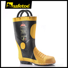 Fabricantes de botas de goma de trabajo, botas de goma de acero punta H-9018