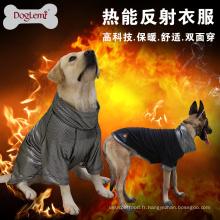 DogLemi nouvelle conception chaleur réfléchissante polaire chien veste réversible hiver grand chien vêtements