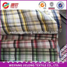 fio de algodão de poliéster tingido tecido xadrez tingido TC tecido 100 fio de algodão tingido tecido tingido