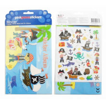 kids pirate Corsair cute cartoon stickers