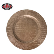 Champagne Serpentine Plastic Charger Plate