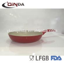 Sartén colorida deslumbrante colorida revestida de aluminio del molde de cerámica