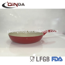 Aluminum ceramic coated die cast dazzling colorful frying pan