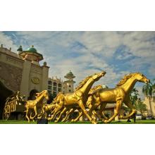Populäres Design Golden Horse Statue mit 15 Jahren Gießerei