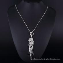Colgante de diamante cristalino claro Puma Sharp Big Rhinestone