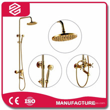 gold water saving high quality shower set