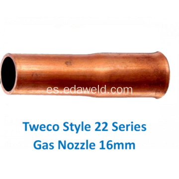 Tweco 22-62 Style Gas Boquilla 16mm