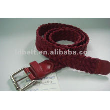 Wax cord braided belt