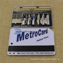 Moneda de la tarjeta caliente de Nypd Metro de la venta caliente con el esmalte suave