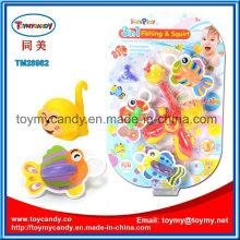 Crianças ′ pato dos desenhos animados e spray de água de macaco e jogos de pesca de brinquedo
