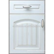 Puerta de armario de cocina de pvc retro de color blanco