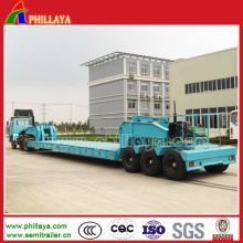 Muti-Axles Low Bed Beam Concave Construction Machine Trailer