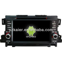Android System car dvd player for Mazda CX-5 with GPS,Bluetooth,3G,ipod,Games,Dual Zone,Steering Wheel Control