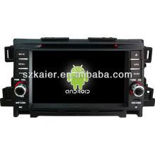 Reprodutor de DVD do carro do sistema de Android para Mazda CX-5 com GPS, Bluetooth, 3G, iPod, jogos, zona dupla, controle de volante