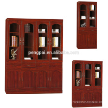 reddish brown multiple office file shelf cabinet with drawers