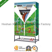 Non Woven Fabric Storage Wardrobe with Stamping (LD-110E)