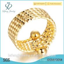 Handgefertigte Größe verstellbare Gelbgold-Engagement überzogene Ringe