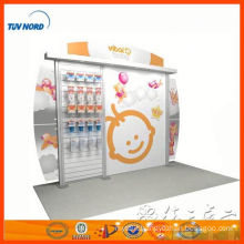 shanghai export small exhibition stands for trade show, portable trade show modular booths 3x3