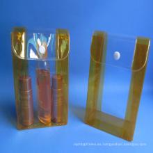 Bolso cosmético plástico transparente del PVC de la manera promocional reutilizable para hacer publicidad, cosméticos
