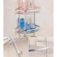 2-Tier Shelf Basket Aluminium