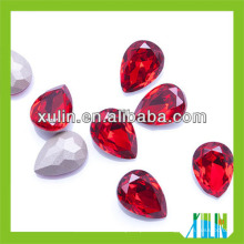 Strass de haute qualité larme pierres fantaisie pour vêtement10 * 14mm