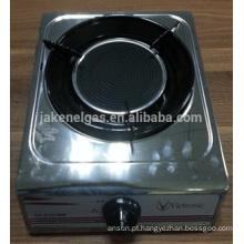 aço inoxidável queimador único infravermelho fogão a gás, fogão a gás
