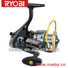 Sistema rotativo de oscilação plana botão de borracha de bobina de pesca