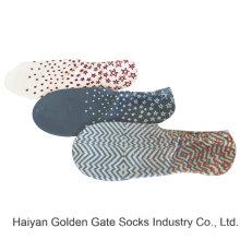 Media almohadilla poli impresión de moda Chuck calcetines ocultos revestimiento (jmpt01)