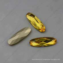 Grânulos de jóias de pedras de strass amarelo