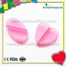 Heart-shaped 2 compartments pill box