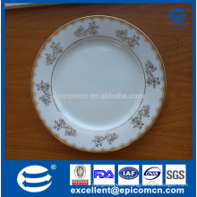 gold decal decorated ceamic plates and dishes porcelain service plate