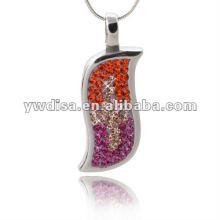 Pingente de alta qualidade de design exclusivo com cristal