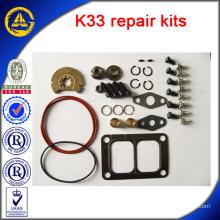 Pièces de moteur K33 kits de réparation de turbo