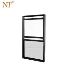 Double hung vertical aluminum window