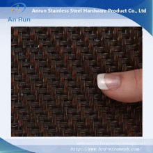 "Flat-Wire Decorative Mesh Del Rey Twill Antique Bronze Plated 24"" X 48"""