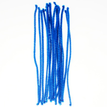 Blue kids educational toys fuzzy sticks chenille wire stem