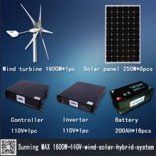 Puissance de vent solaire hybride (MAX 1600W)