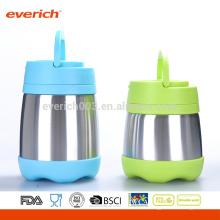 Kundenspezifischer 8OZ GroßhandelsbPA-freier S / S Nahrungsmittelbehälter mit Plastikhandgriff