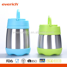 Custom 8OZ Wholesale BPA Free S/S Food Container With Plastic Handle