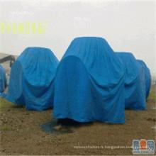 Bâche en plastique de PE, tissu extérieur imperméable de HDPE de couverture en plastique de matériel de tente
