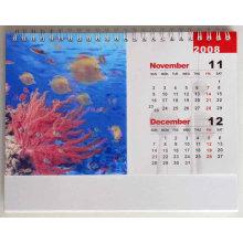 Calendario rectangular 3D Blue Rectangle 3D
