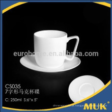 Copo de chá da porcelana do osso do eurohome copo e pires exclusivos do café do projeto do tamanho