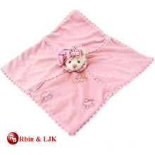 custom promotional lovely plush animal blanket