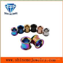 Jóias de corpo de aço inoxidável Fone Tunnel Ear Plug