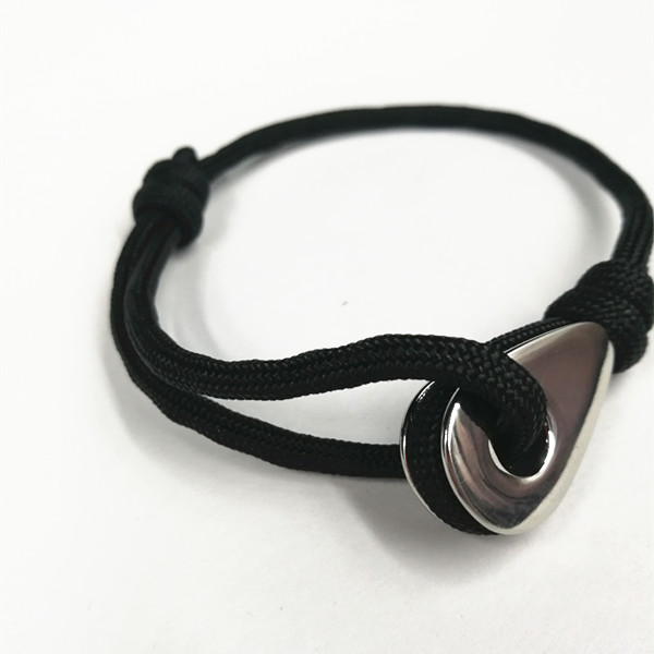 Custom Logo Thimble Leather rope bracelet