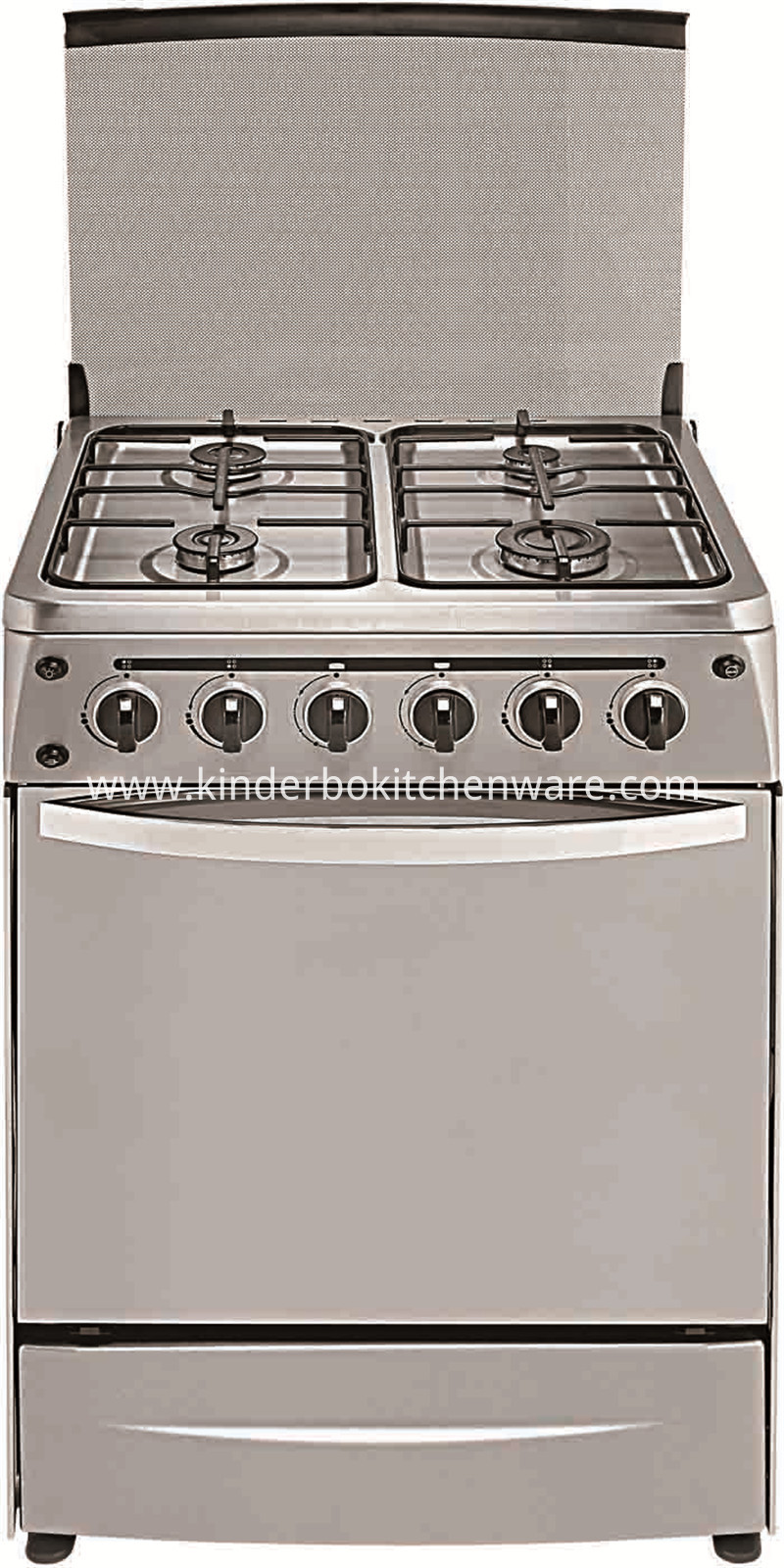 Commercial Gas Range Stainless Steel Gas Cooker Stove with 4 Burner with Oven