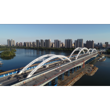 prefabricated steel structure pedestrian bridge