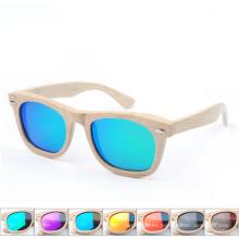 gafas de sol plegables de marca de madera