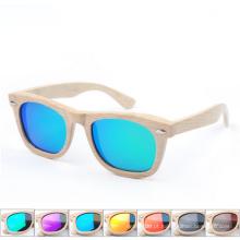 dobrável de madeira própria marca óculos de sol